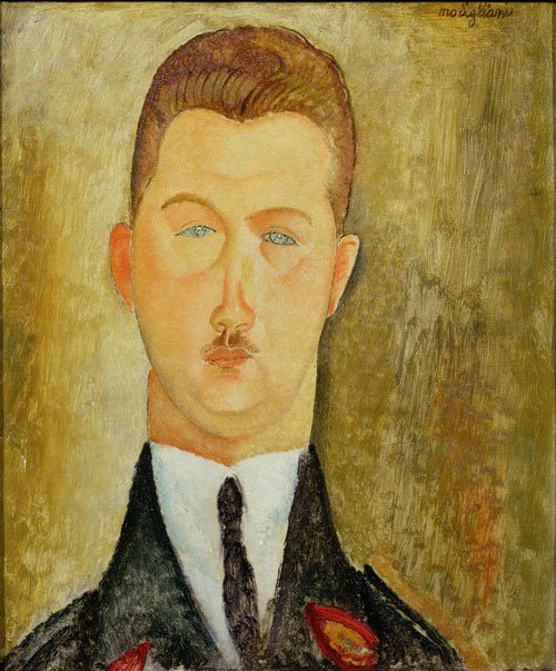 Amedeo Modigliani. Dr François Brabander, 1918. Oil on canvas, 46 x 38 cm. Courtesy: Estorick Collection.