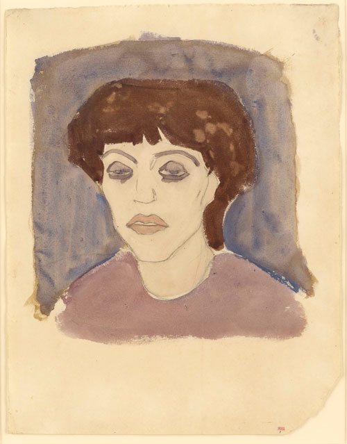 Amedeo Modigliani. Portrait of Maud Abrantès, 1908. Watercolour with traces of black crayon, 41 x 32 cm. Courtesy: Richard Nathanson, London.
