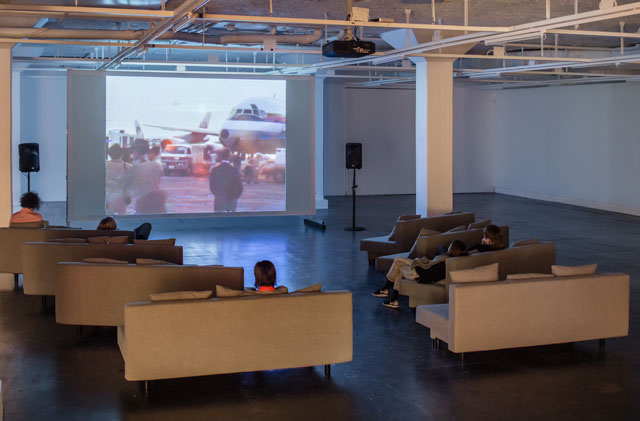 Installation view, Naeem Mohaiemen, United Red Army, Tensta Konsthall, Stockholm. Photograph: Jean-Baptiste Berager.