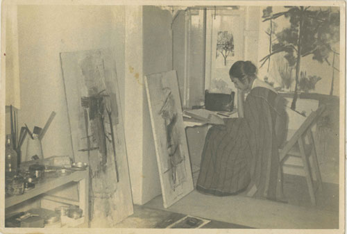 Nasreen at her studio in Bombay at the Bhulabhai Desai Institute, dated 2 November 1960.