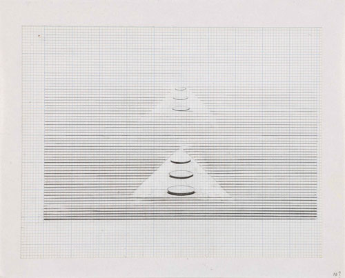 Nasreen Mohamedi. Untitled, early 1980s. © Collection of Gayatri Jhaveri & Priyam Jhaveri. Mumbai, India.