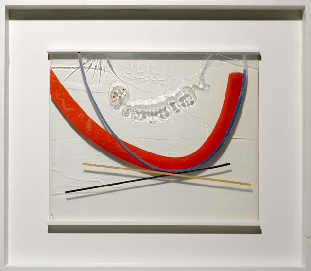 László Moholy-Nagy. Papmac, 1943. Oil and incised lines on Plexiglas, in original frame. Plexiglas: 58.4 × 70.5 cm; frame: 91.1 × 101.9 cm. Private collection. © 2016 Hattula Moholy-Nagy/VG Bild-Kunst, Bonn/Artists Rights Society (ARS), New York. Photograph: Kristopher McKay © Solomon R. Guggenheim Foundation, New York.