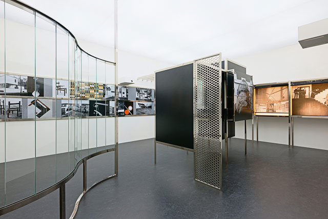 László Moholy-Nagy. Room of the Present (Raum der Gegenwart), constructed in 2009 from plans and other documentation, dated 1930. Installation view: Play Van Abbe – Part 2: Time Machines, Van Abbemuseum, Eindhoven, 10 April – 12 September 2010. Mixed media, outer dimensions: 442 × 586.8 × 842.8 cm; inner dimensions: 350 × 556 × 812 cm. Van Abbemuseum, Eindhoven. © 2016 Hattula Moholy-Nagy/VG Bild-Kunst, Bonn/Artists Rights Society (ARS), New York. Photograph: Peter Cox, courtesy Art Resource, New York.