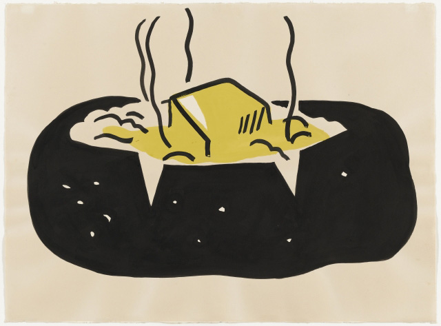 Roy Lichtenstein. Baked Potato, 1962. Ink and synthetic polymer paint on paper, 22 1/4 x 30 1/8 in (56.6 x 76.5 cm). The Museum of Modern Art, New York. Gift of Abby Aldrich Rockefeller (by exchange).