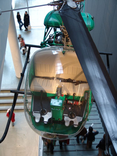 <i>Helicopter</i>, located between second and third floor