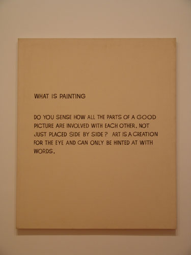 <i>What is Painting</i>, 1968. John Baldessari