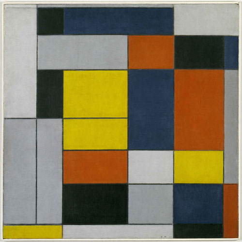 Piet Mondrian. Composition with Red, Yellow and Blue, 1927. Museum Folkwang, Essen. © 2014 Mondrian/Holtzman Trust c/oHCR InternationalUSA.
