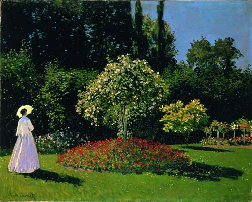 <p>Claude Monet. <em>Femme au jardin,</em> 1866. Oil on canvas, 80 x 99 c. Musée de l