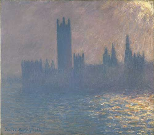 <p>Claude Monet. <em>Le Parlement, effet de soleil,</em> 1903. Oil on canvas, 81 x 92 cm. Brooklyn Museum of Art, Bequest of Grace Underwood Barton. © Brooklyn Museum of Art, USA