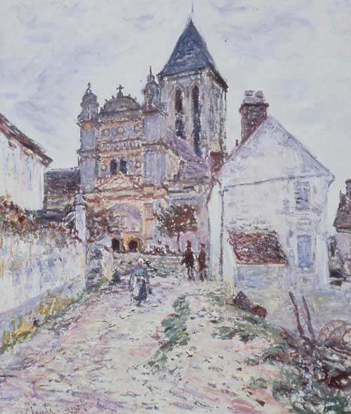 <i>The Church at V&eacute;theuil</i>, 1878 &copy; National Gallery of 