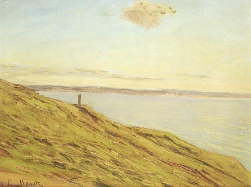 Claude Monet. <em>Sainte-Adresse, View Across the Estuary,</em> 1865-1870. Pastel on paper 21.59 x 27.94 cm. Private collection, photo courtesy Martha Parrish
