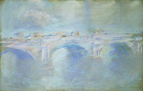 Claude Monet. <em>Waterloo Bridge,</em> c. 1901. Pastel on paper, 30.5 x 48 cm. Triton Foundation, The Netherlands