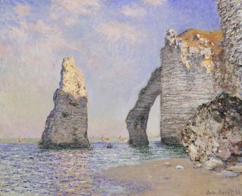Claude Monet. <em>The Cliffs at Etretat,</em> 1885. Oil on canvas 64.9 x 81.1 cm. Photo &copy; 2007 Sterling and Francine Clark Art Institute, Williamstown