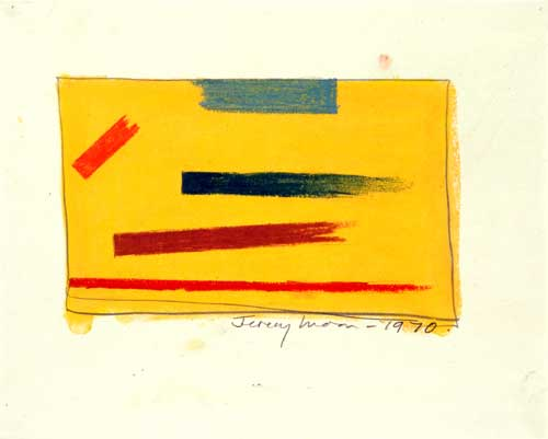 <i>Drawing [1970]</i>. 1970, pencil & pastel on paper, 20.3 x 25.4 