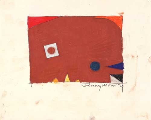 <i>Drawing ['70]</i>. 1970, pencil & pastel on paper, 20.3 x 25.4 