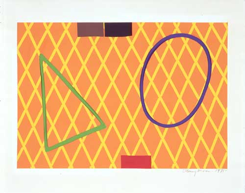 <i>Collage [ C3/71]</i>. 1971, pencil & pastel on paper, 52 x 63.5 
