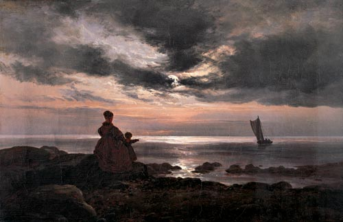 Johan Christian Dahl (1788-1857). <em>Mother and Child by the Sea</em>, 1840. &copy; The Barber Institute of Fine Arts.