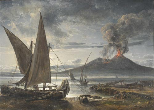 Johan Christian Dahl (1788-1857). <em>Boats on the Beach near Naples</em>, 1821. &copy; Bergen Art Museum, Norway.