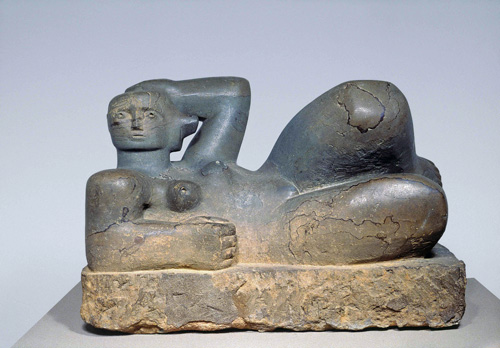 Henry Moore. <em>Reclining Figure</em>, 1929. Leeds Museums and Galleries © Reproduced by permission of The Henry Moore Foundation.