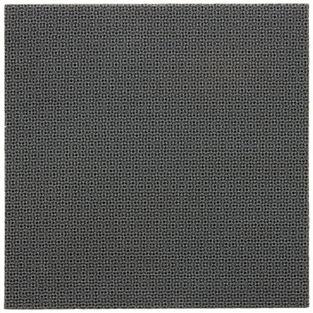 François Morellet. 3 Trames 0° - 22°5 + 22°5, 1971. Grillage on wood, 60 x 60 cm. Courtesy The Mayor Gallery, London.