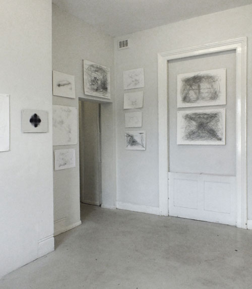 Morgan O'Hara. Gallery view at the Centre for Recent Drawing, London.