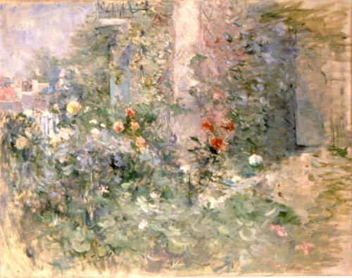Berthe Morisot. <em>Le Jardin A Bougival (The Garden at Bougival)</em>, 1884. Oil on canvas, 73 x 92 in. Mus&eacute;e Marmottan Monet.