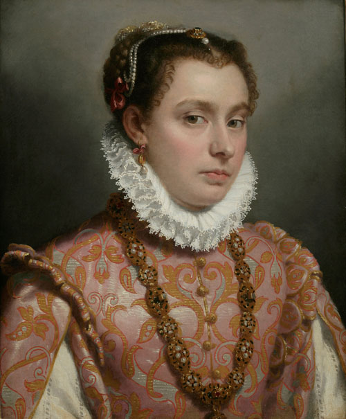 Giovanni Battista Moroni. Young Lady, c1560-65. Oil on canvas, 51 x 42 cm. Private collection. Photograph: Private collection.