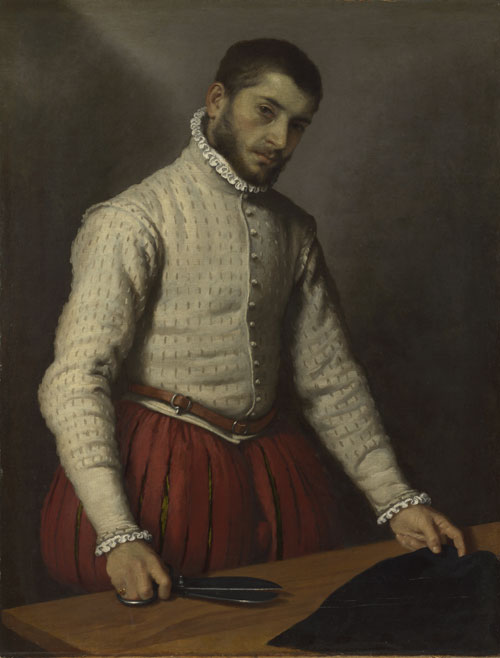 Giovanni Battista Moroni. The Tailor, c1570. Oil on canvas, 99.5 x 77 cm. The National Gallery, London. Photograph: © The National Gallery, London.