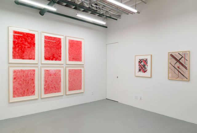 Ed Moses: Painting as Process, installation view. Albertz Benda, New York, NY, September 8 - October 15, 2016.