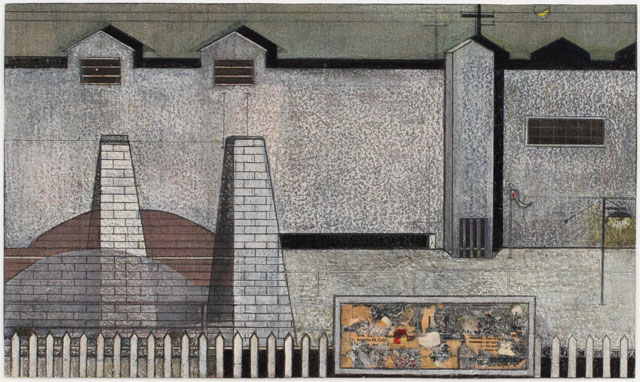 Ed Moses. Glady McBean, 1953. Crayon, graphite, collage and casein on heavy watercolour paper, 12 x 20 1/4 in (30.5 x 51.4 cm). Image courtesy Albertz Benda.