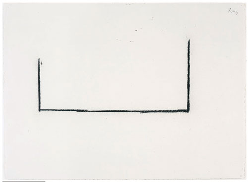 Robert Motherwell. <em>Open Study No. 3</em>, 1968. Charcoal on paper, 55.9 x 77.5 cm (22 x 30½ in). © Dedalus Foundation, Inc. / Licensed by VAGA, New York, NY.