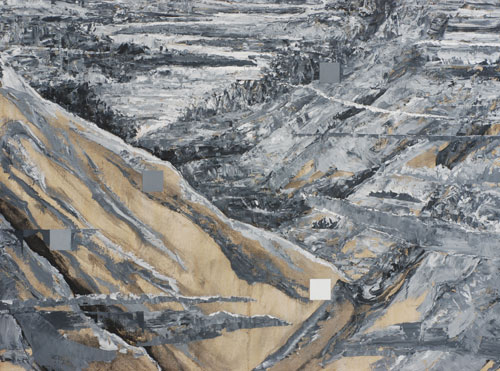 Wu Jian. Distant view, 2012. Oil on canvas, 90 x 260 cm.