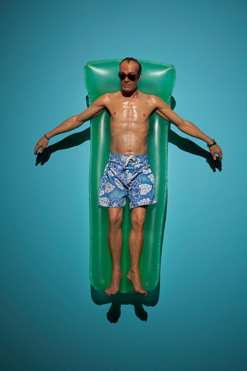 Ron Mueck. Drift, 2009. Mixed media, 118 x 96 x 21 cm. Private collection. Photograph: Isabella Matheus.