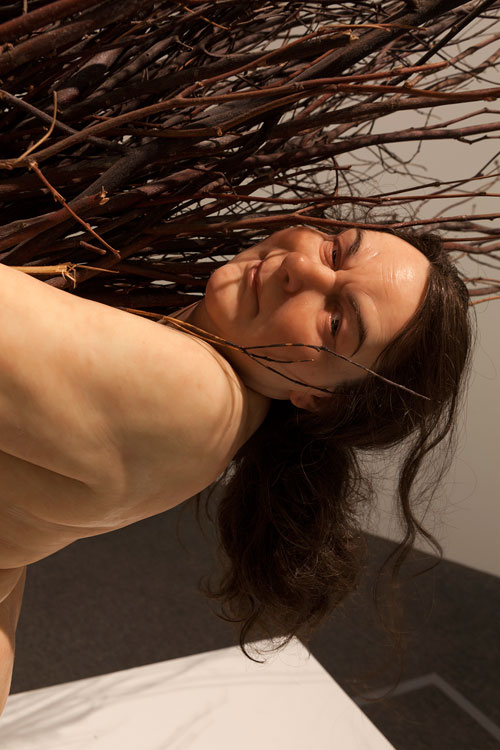 Ron Mueck. Woman with Sticks, 2009 (detail). Mixed media, 170 x 183 x 120 cm. Collection: Fondation Cartier pour l'art Contemporain, Paris. Photograph: Isabella Matheus.