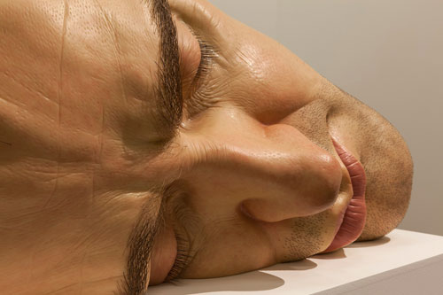 Ron Mueck. Mask II, 2002 (detail). Mixed media, 77 x 118 x 85 cm. Anthony d'Offay, London. Photograph: Isabella Matheus.