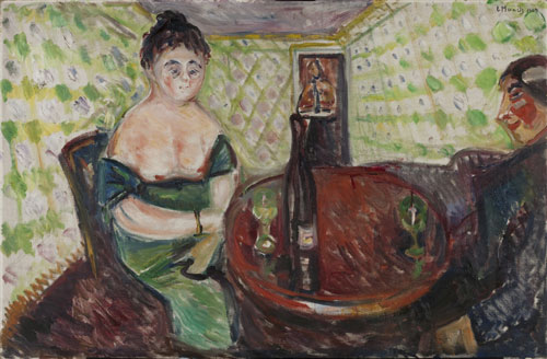 Edvard Munch. <em>A la douce jeune fille,</em> 1907. Oil on canvas, 85 x 130.5 cm. © Munch Museum/Munch-Ellingsen Group/BONO 2011. © Adagp, Paris 2011.