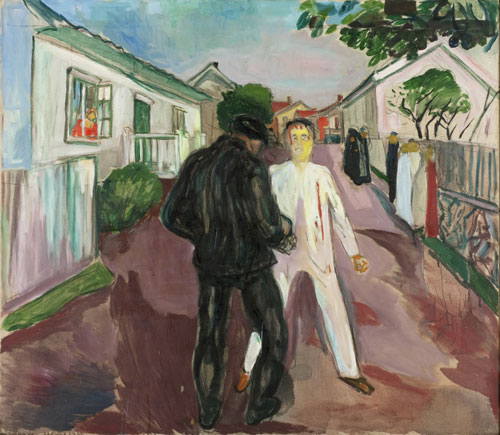 Edvard Munch. <em>La Bagarre,</em> 1932-35. Oil on canvas, 105 x 120 cm. © Munch Museum/Munch-Ellingsen Group/BONO 2011. © Adagp, Paris 2011.