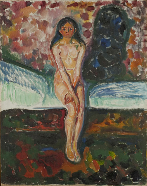 Edvard Munch. <em>Puberté,</em> 1914-16. Oil on canvas, 97 x 77 cm. © Munch Museum/Munch-Ellingsen Group/BONO 2011. © Adagp, Paris 2011.