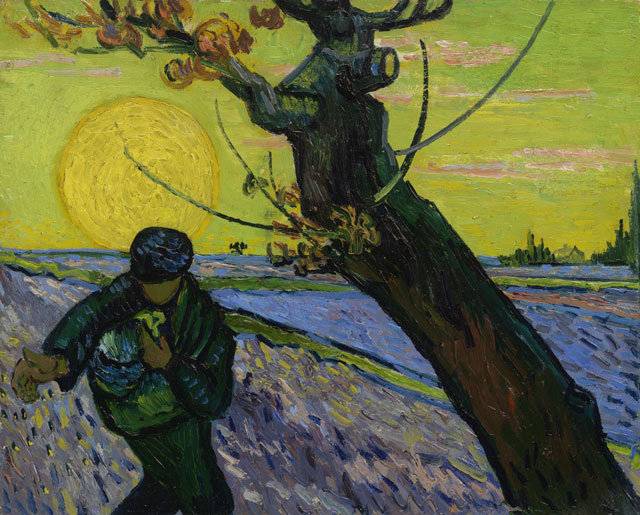 Vincent van Gogh. The Sower, 1888. Van Gogh Museum, Amsterdam. (Vincent van Gogh Foundation).