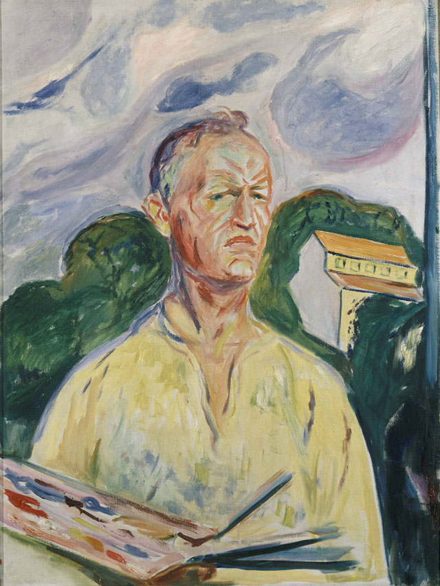 Edvard Munch. Self-Portrait with Palette, 1926. Private collection.