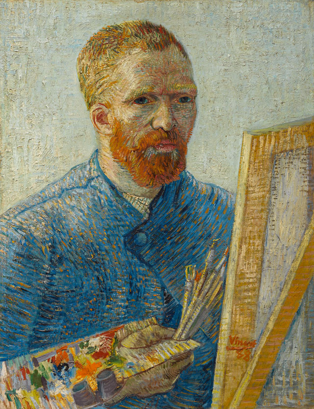 Vincent van Gogh. Self-Portrait as a Painter, 1887-88. Van Gogh Museum, Amsterdam. (Vincent van Gogh Foundation).