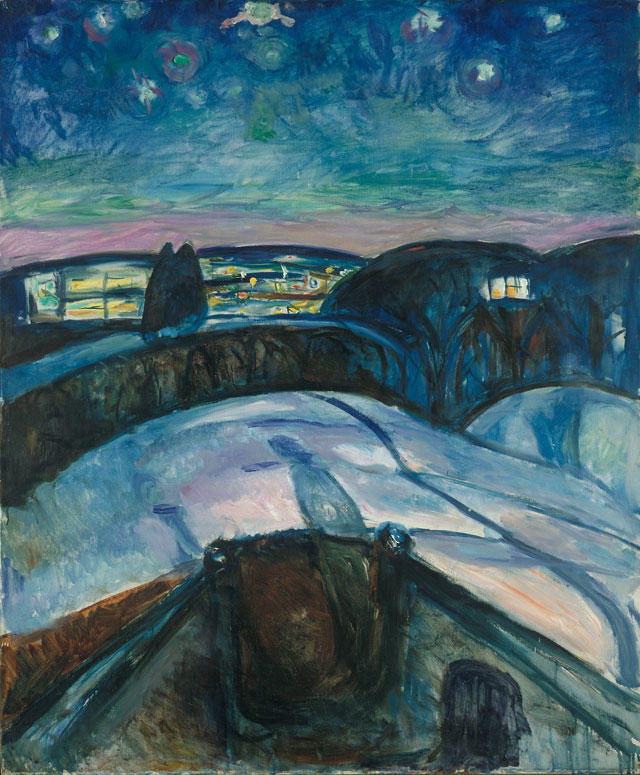 Edvard Munch. Starry Night, 1922. Munch Museum, Oslo.