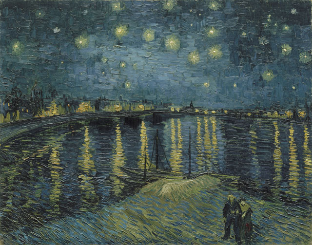 Vincent van Gogh. Starry Night over the Rhône, 1888. Musée d'Orsay, Paris.