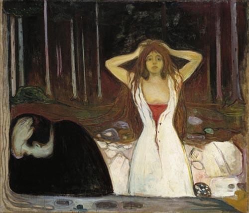 Edvard Munch. <em>Ashes</em>, 1894. Oil on canvas, 47 7/16 x 55 1/2 in (120.5 x 141 cm). The National Museum of Art, Architecture, and Design/National Gallery, Oslo (c) 2006 The Munch Museum/The Munch-Ellingsen Group/Artists Rights Society (ARS), New York.
