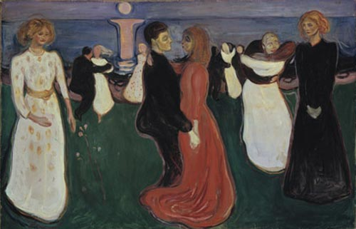 Edvard Munch. <em>The Dance of Life</em> (1899-1900). Oil on canvas 49 3/16 x 75 3/16 in (125 x 191 cm). The National Museum of Art, Architecture, and Design/National Gallery, Oslo (c) 2006 The Munch Museum/The Munch-Ellingsen Group/Artists Rights Society (ARS), New York.