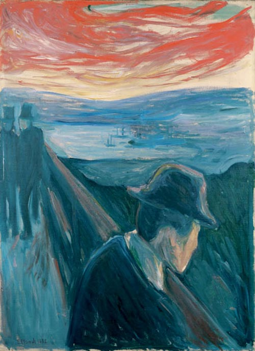 Edvard Munch. <em>Despair</em>, 1892. Oil on canvas 36 1/4 x 26 1/2 in (92 x 67 cm). Thielska Galleriet, Stockholm (c) 2006 The Munch Museum/The Munch-Ellingsen Group/Artists Rights Society (ARS), New York.