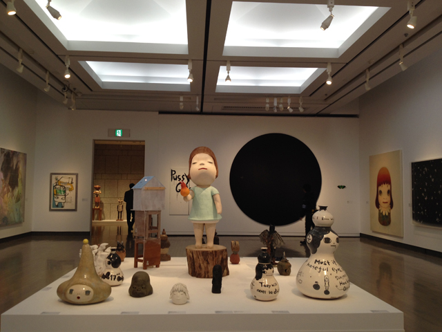 Takashi Murakami and his Superflat Collection. Gallery view.