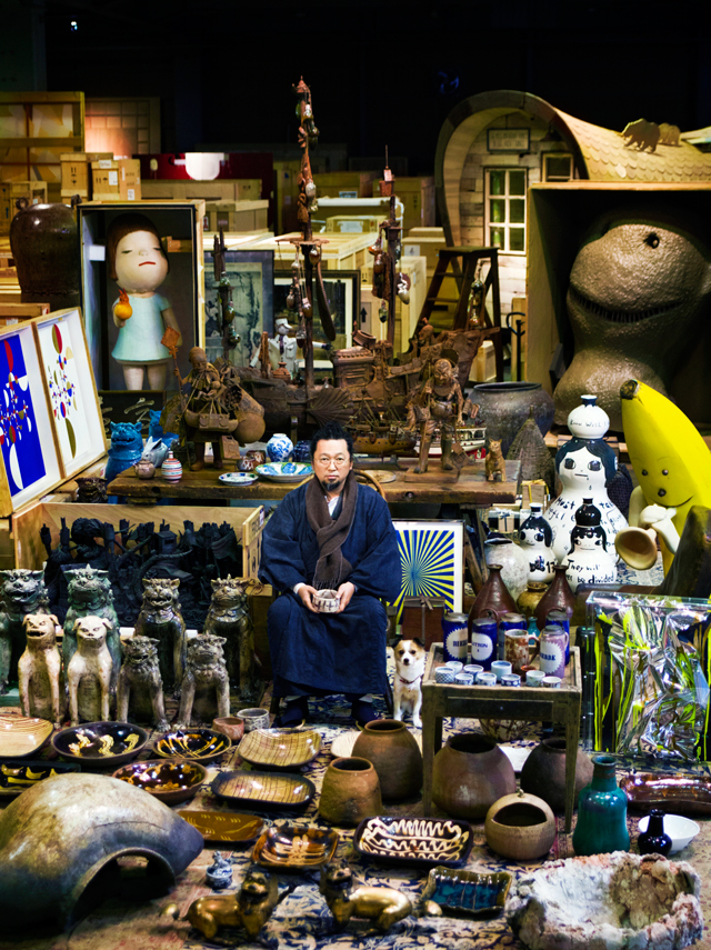 Takashi Murakami and his Superflat Collection. Photograph: Kentaro Hirao.