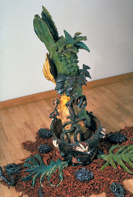 Sana Musasama. Maple Tree Series #II, 1994. Ceramic, 54 x 12 x 15 in. Courtesy of the artist and the June Kelly Gallery, NY.