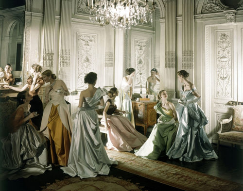 Models in dresses by Charles James, 1948 Charles James (American, born Great Britain, 1906–1978).  Vogue, June 1948. Photograph by Cecil Beaton (British, 1904–1980).  Courtesy of the Cecil Beaton Studio Archive at Sotheby's © Condé Nast Publications.